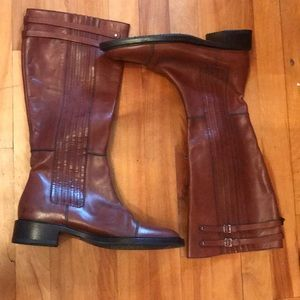 Hugo boss women's leather boots size 39